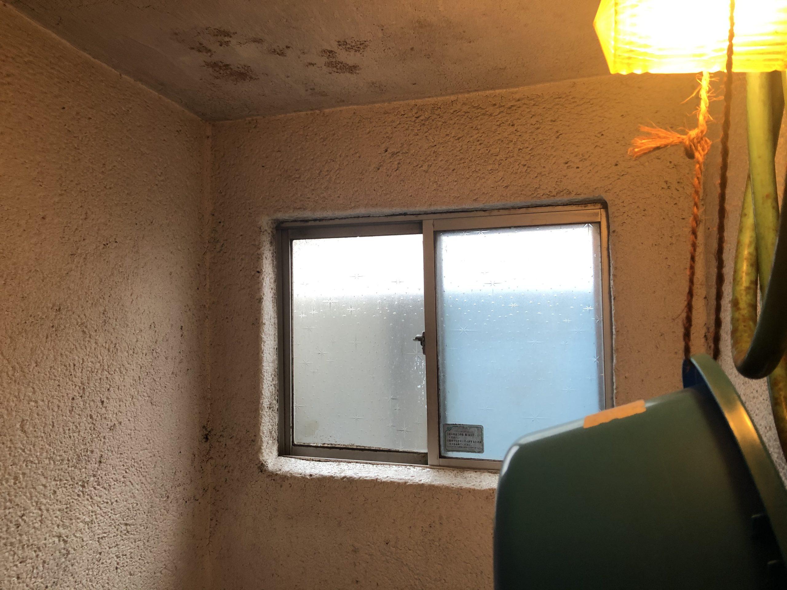 平野区 浴室天井塗装前