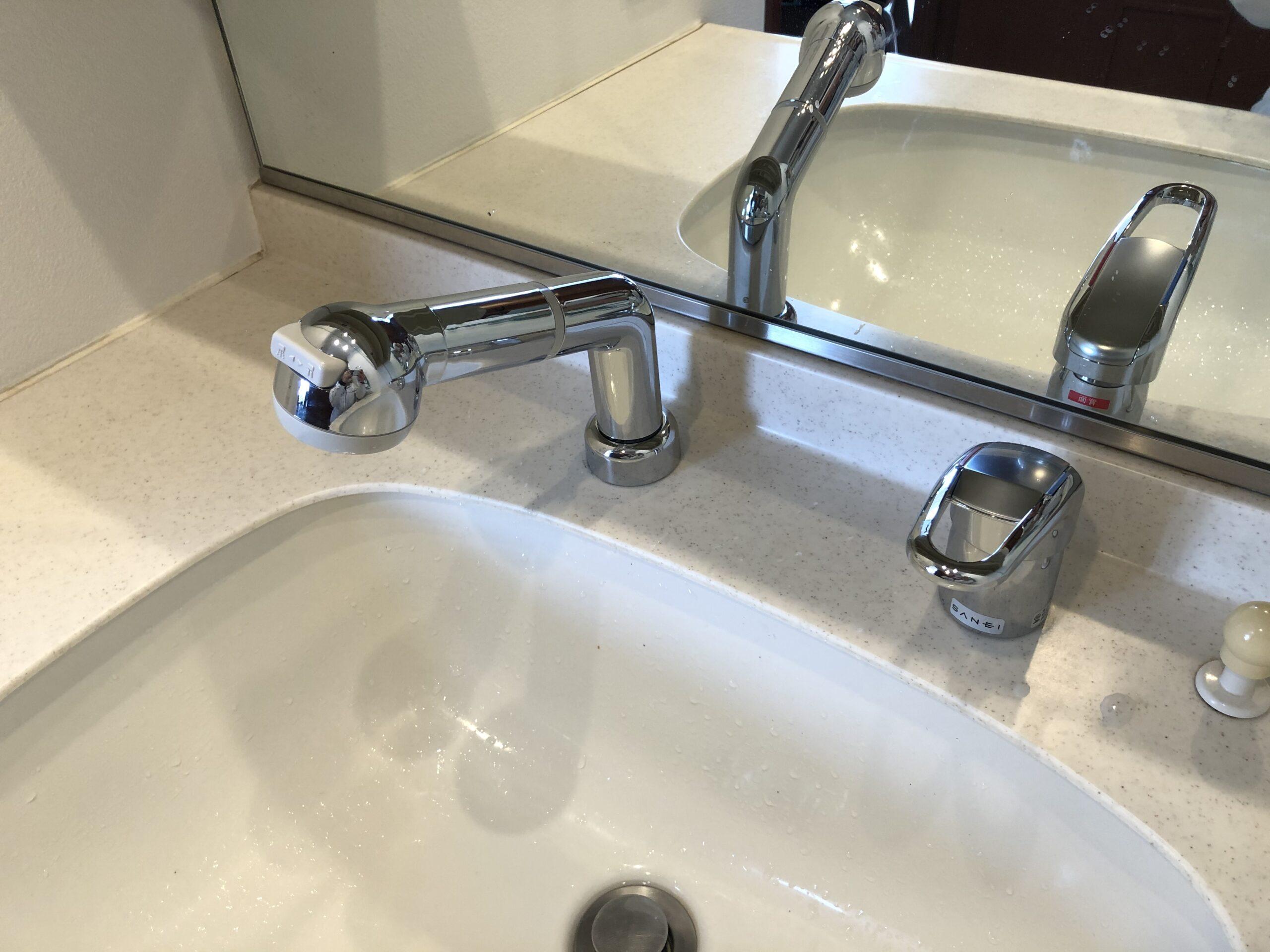 阿倍野区 洗面水栓 施工後①