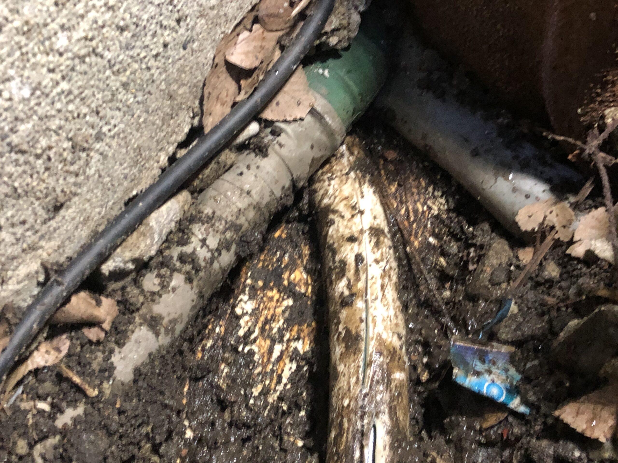 天王寺区 水漏れ修理 施工前②