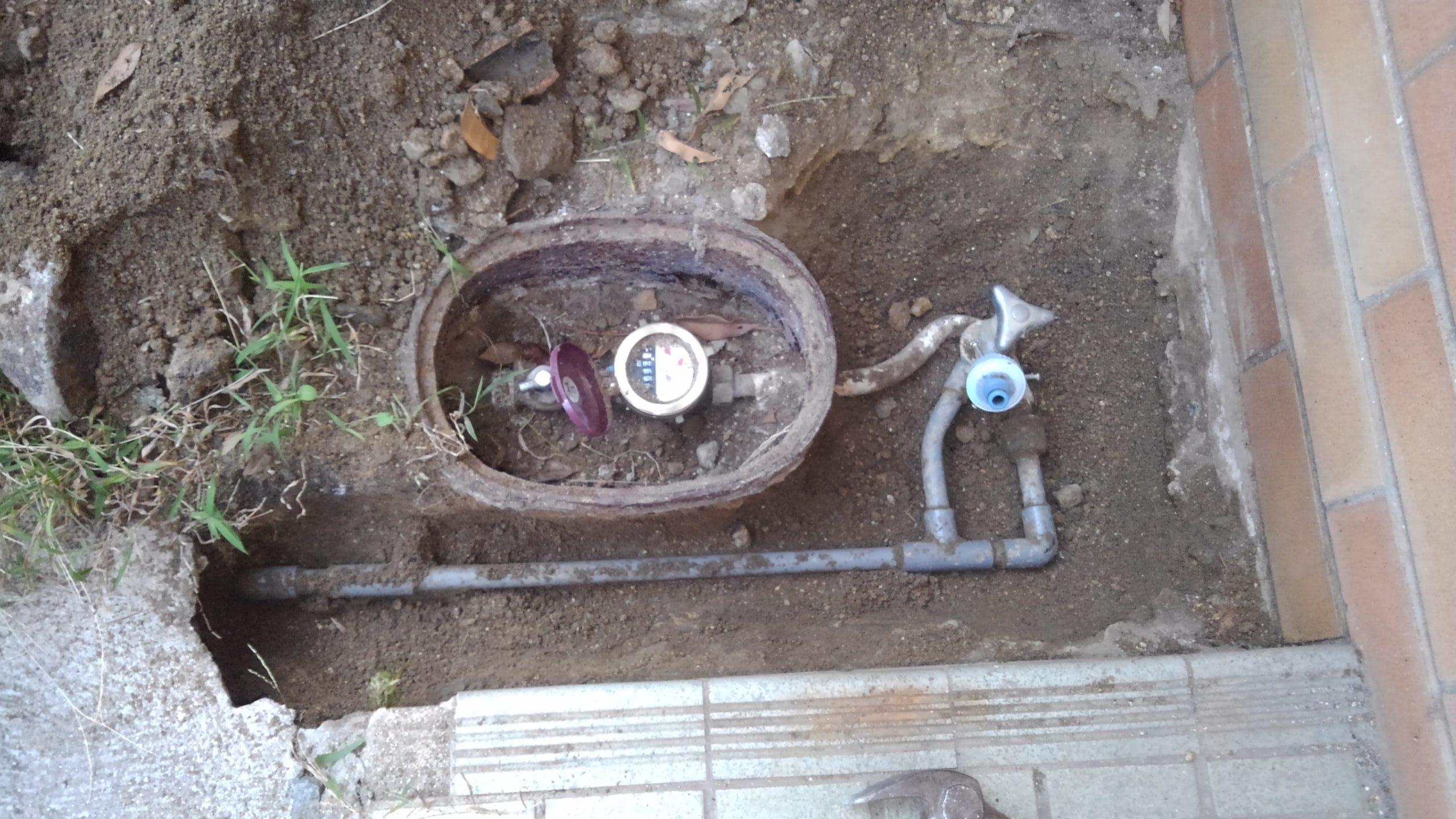 平野区 水漏れ工事 施工前①