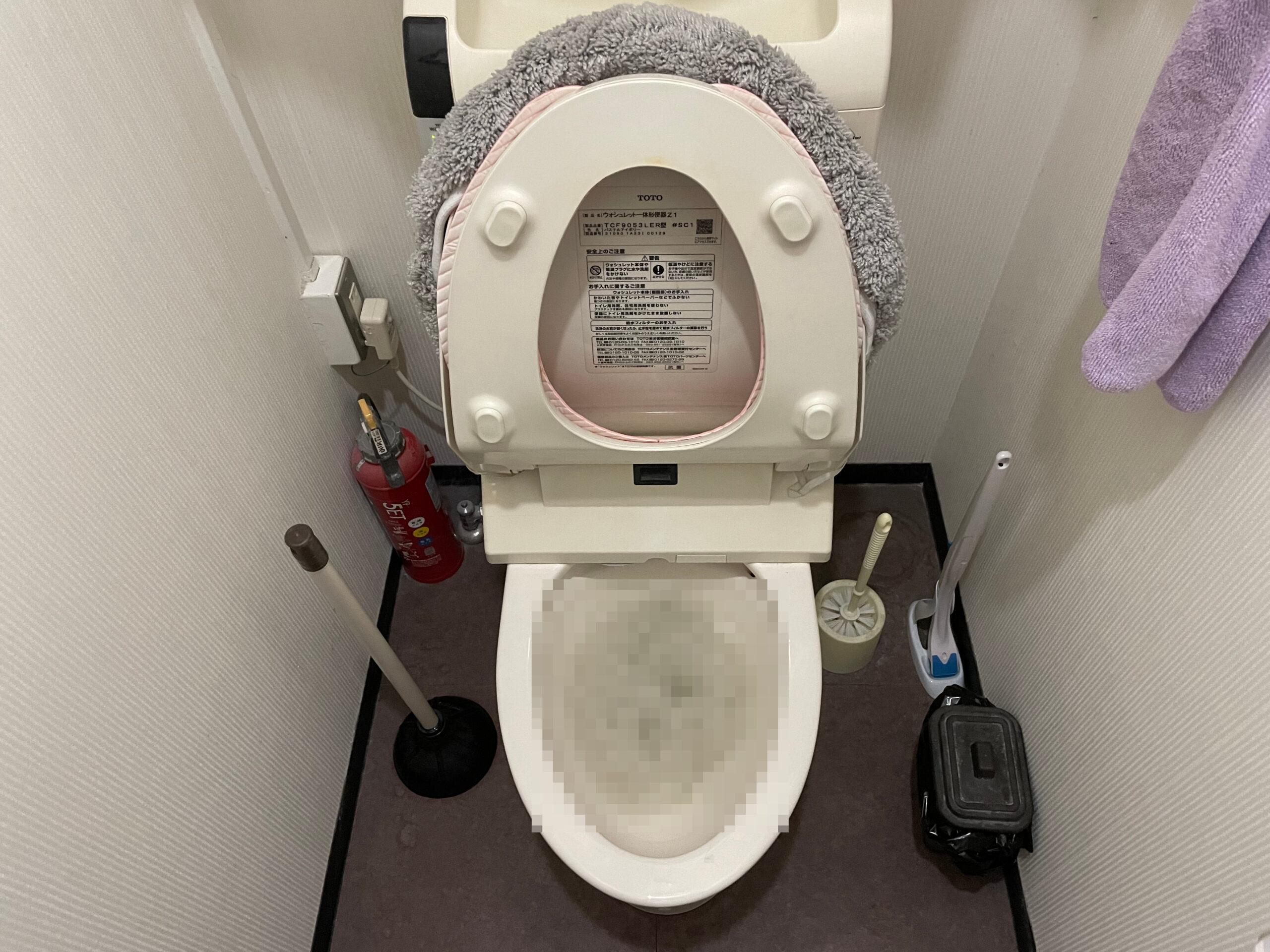 中央区 トイレ詰り 施工前①