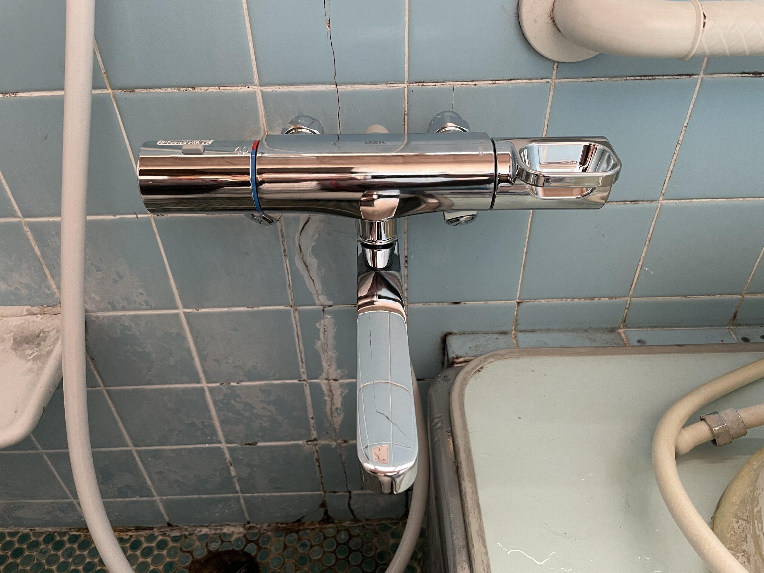 浪速区 浴室用蛇口 施工後②