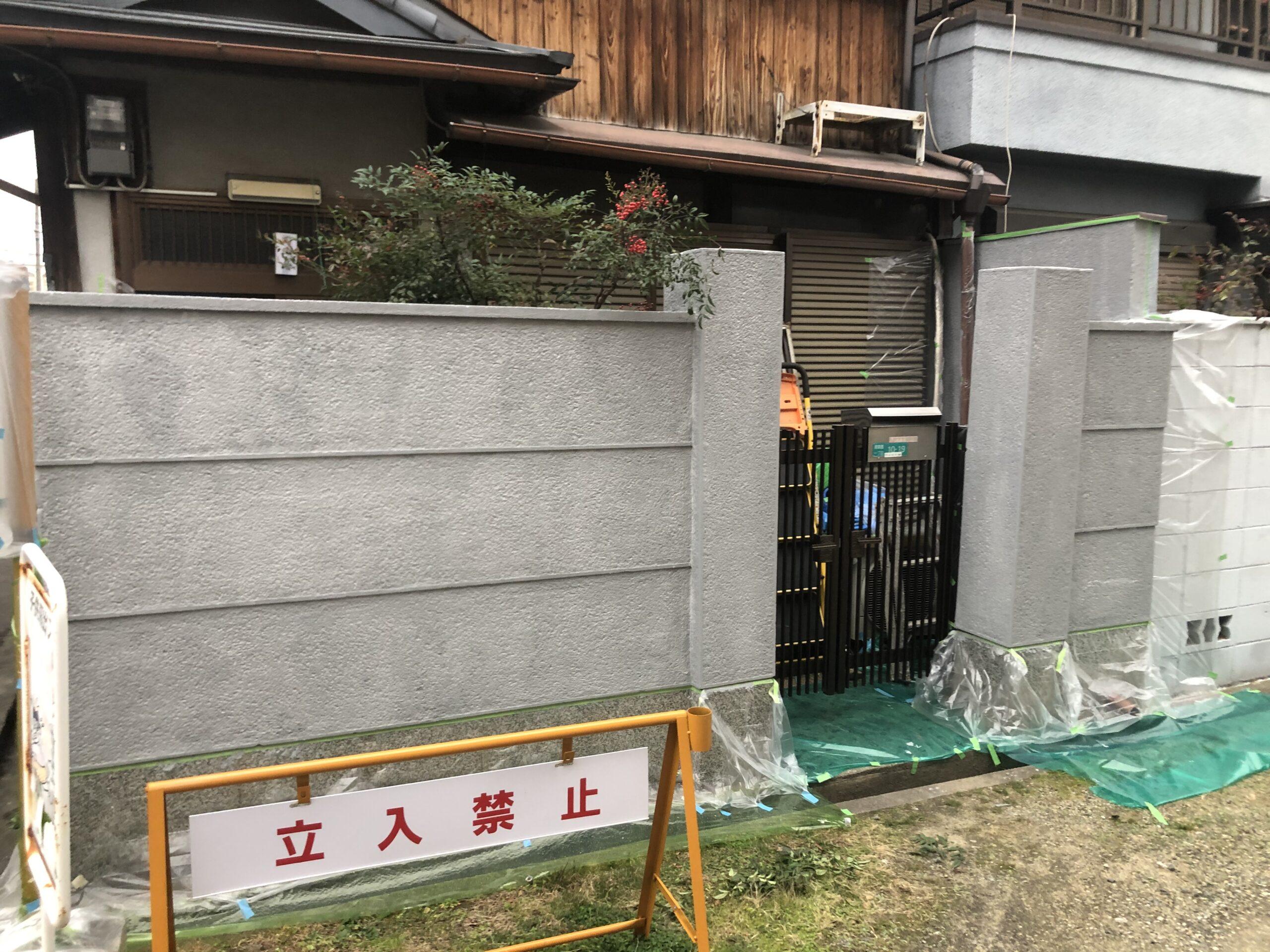 阿倍野区 外塀塗装 施工後③