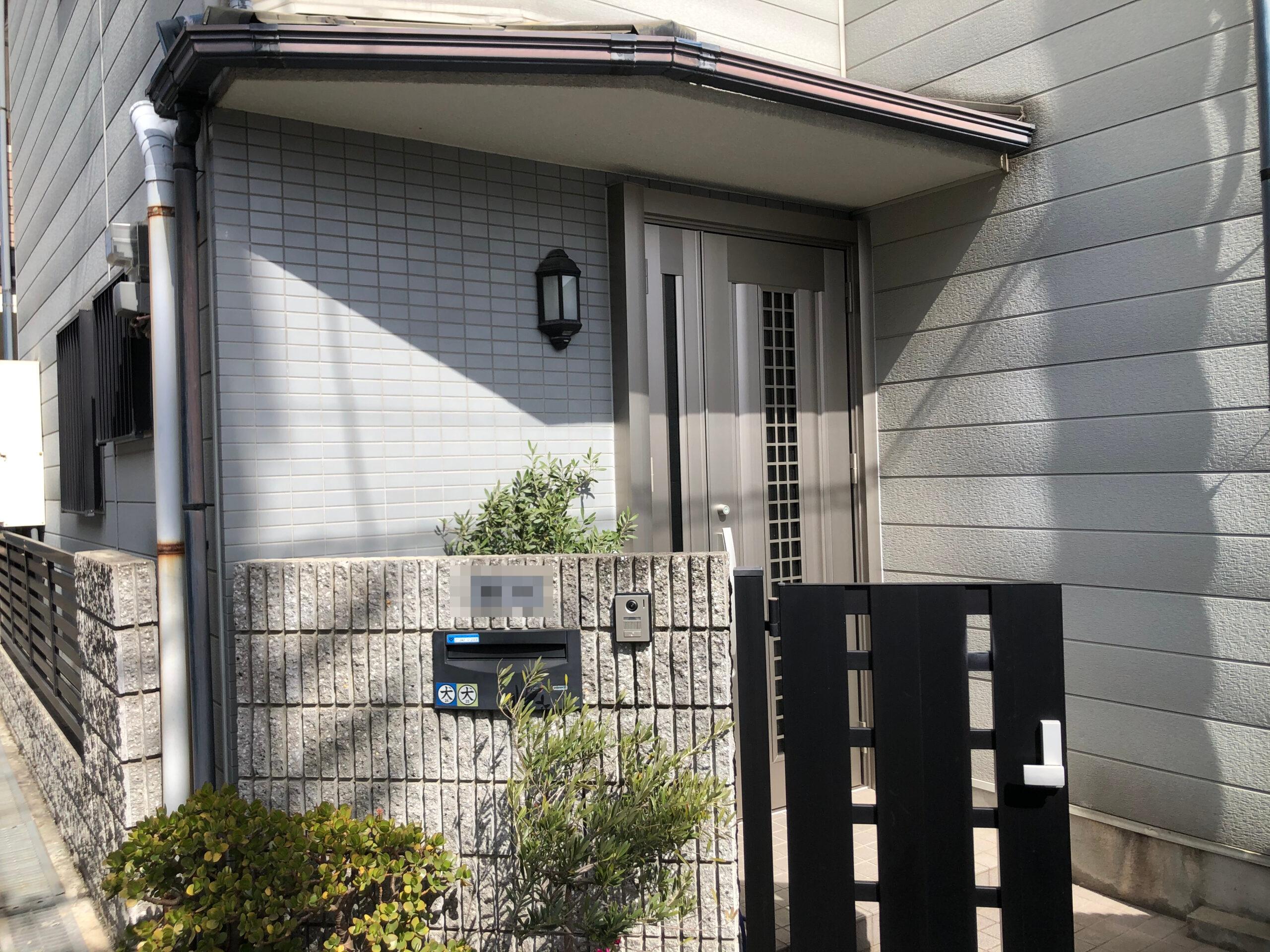 阿倍野区 玄関ドア 施工後①