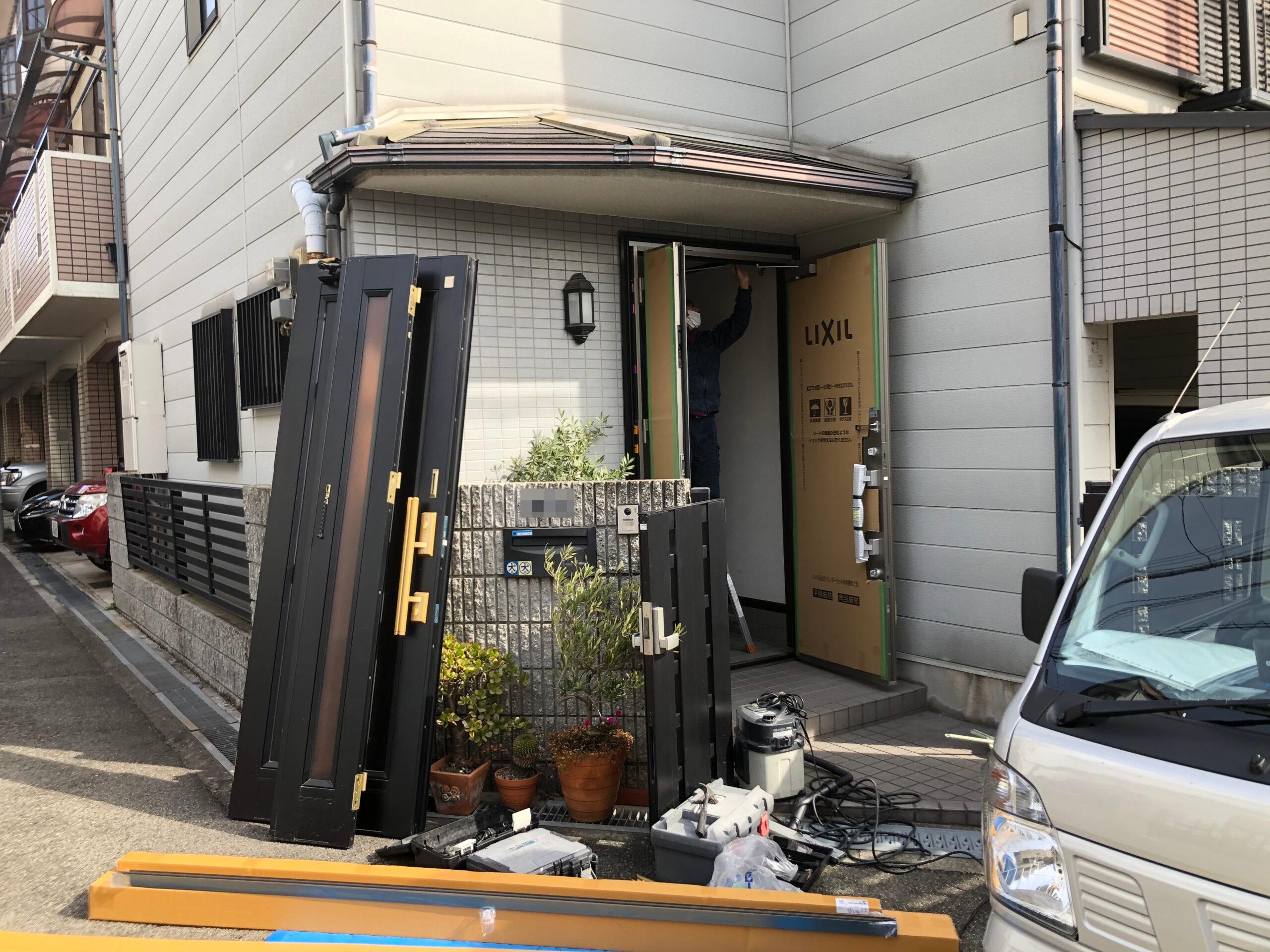 阿倍野区 玄関ドア 施工前②