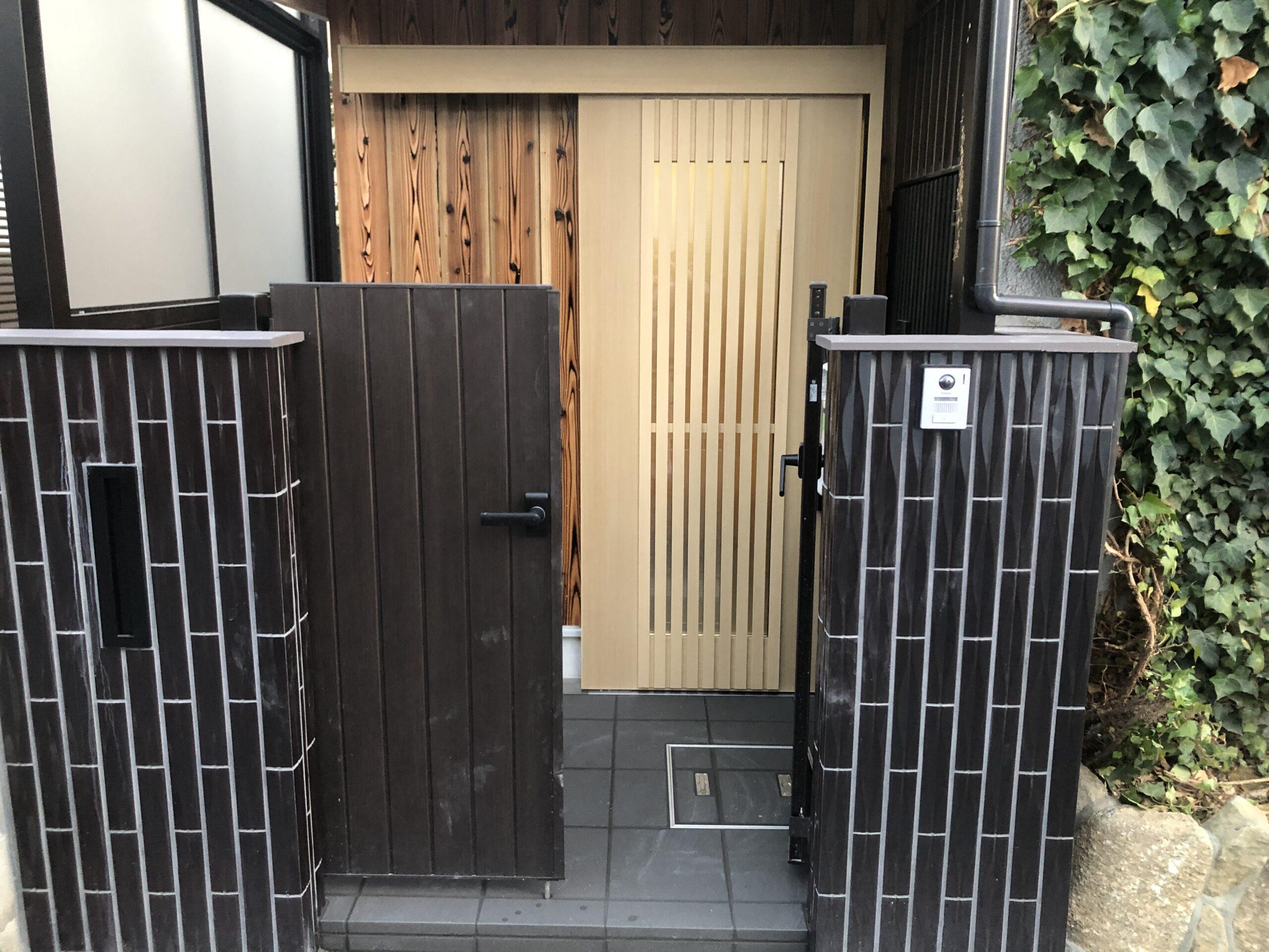 堺市西区 玄関リフォーム 施工後⑧