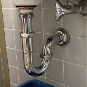 天王寺区 洗面器排水管 施工後①