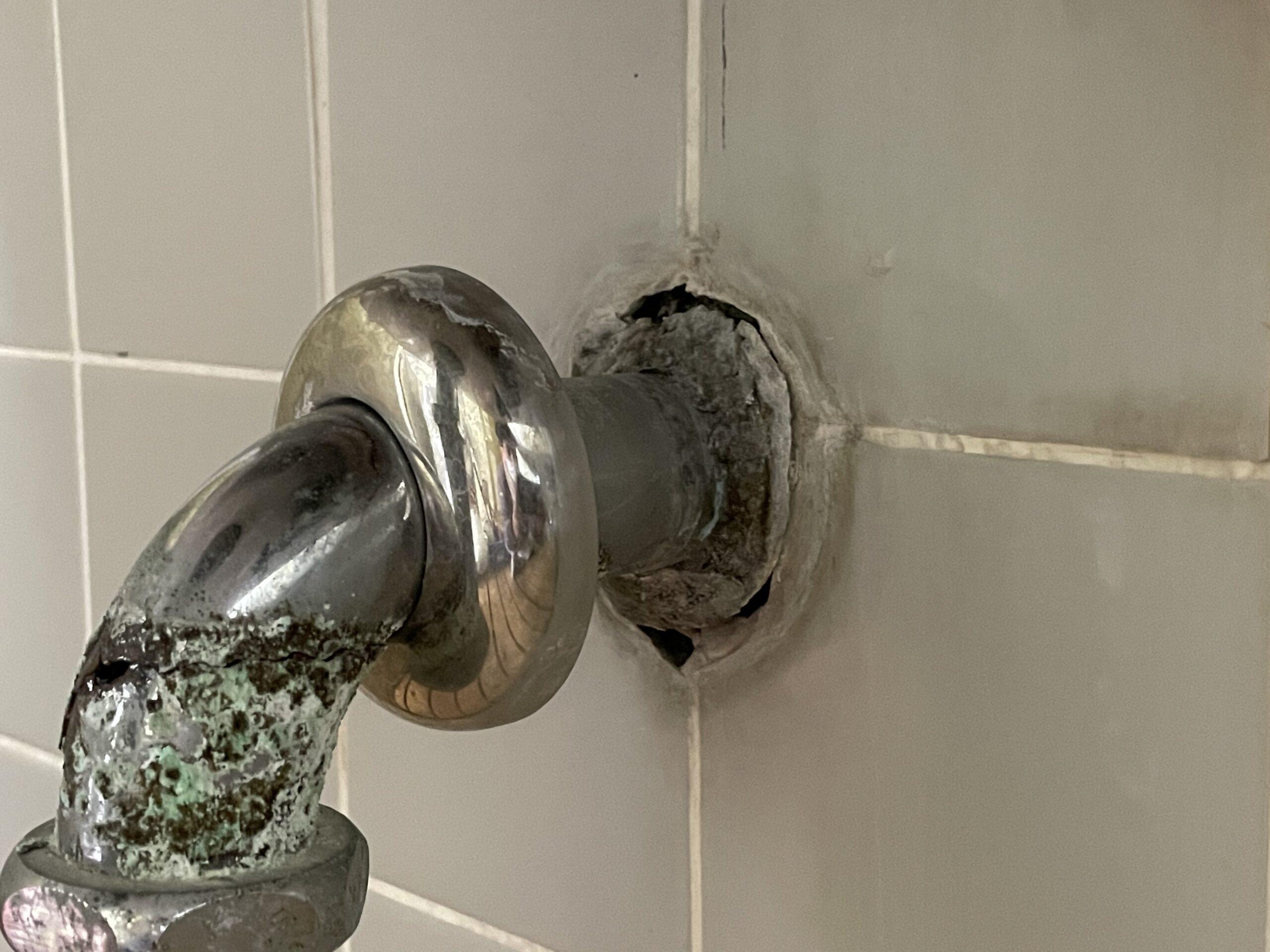 天王寺区 洗面器排水管 施工前③