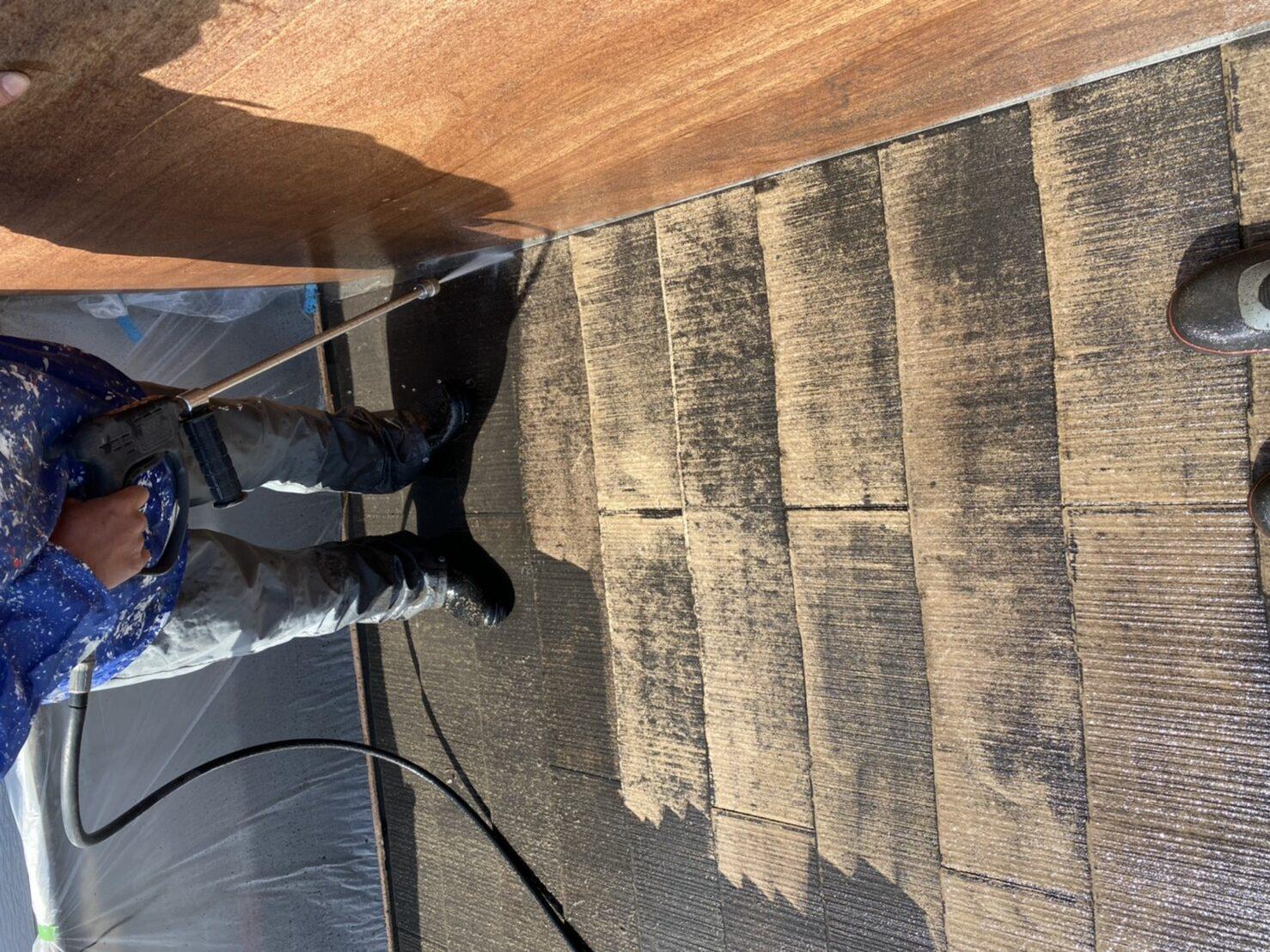 阿倍野区 屋根塗装 施工前②