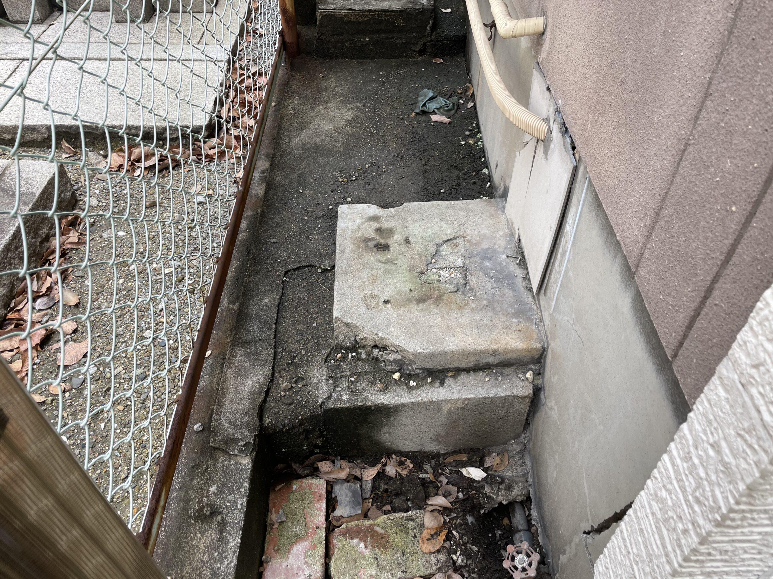 天王寺区 水漏れ修理 施工前①