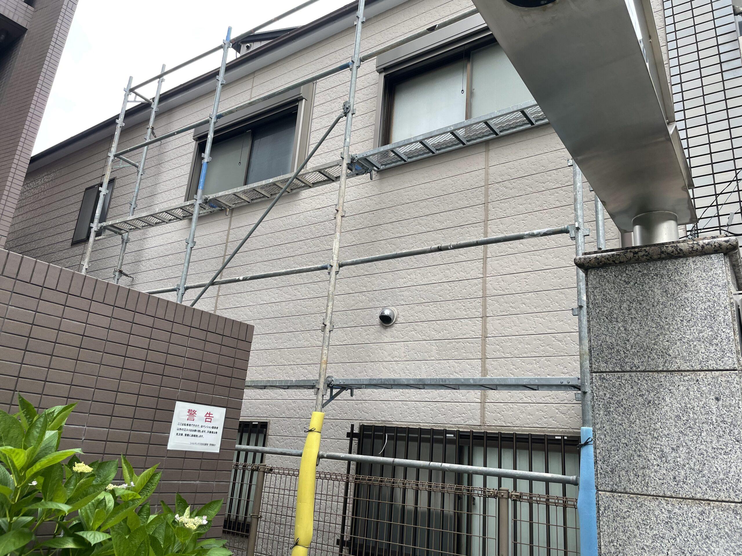 東住吉区 後付けシャッター 施工前③
