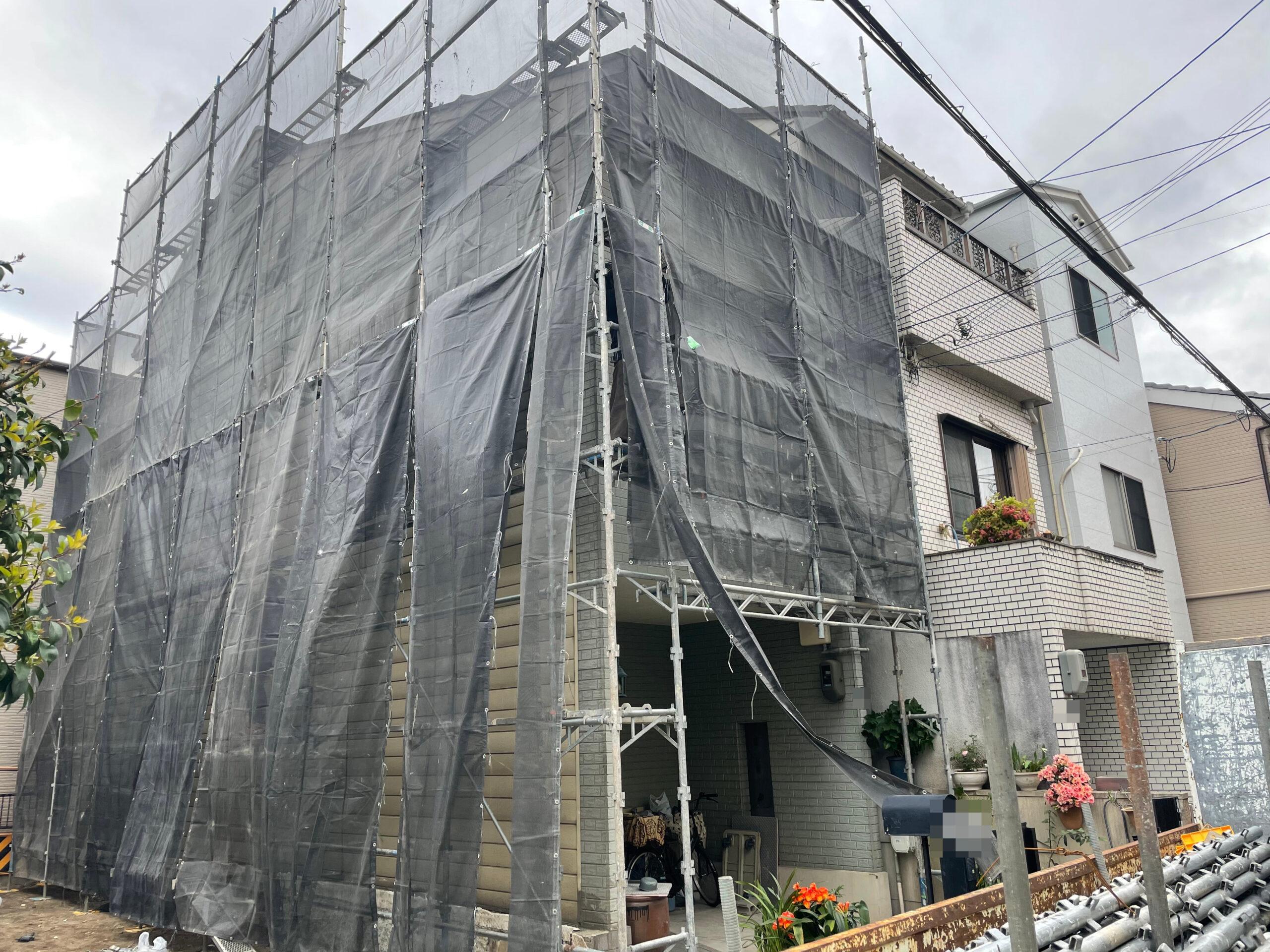 東住吉区 外壁塗装 施工前②