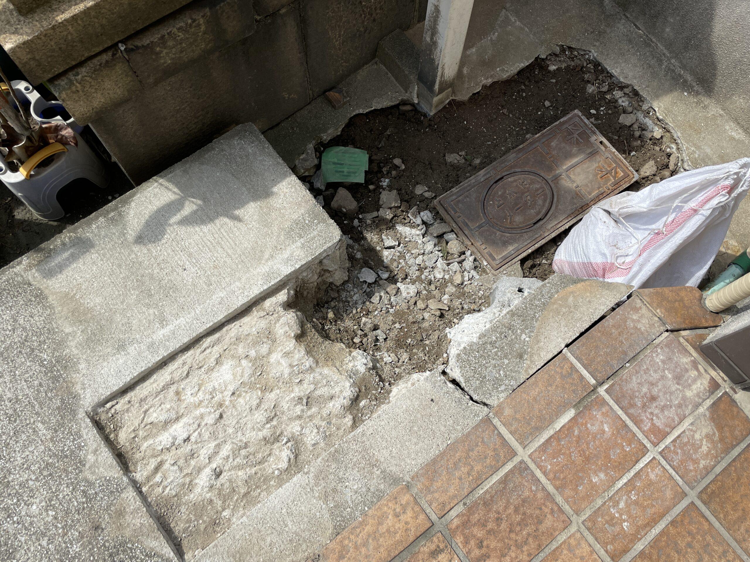 天王寺区 水漏れ修理 施工前⑤