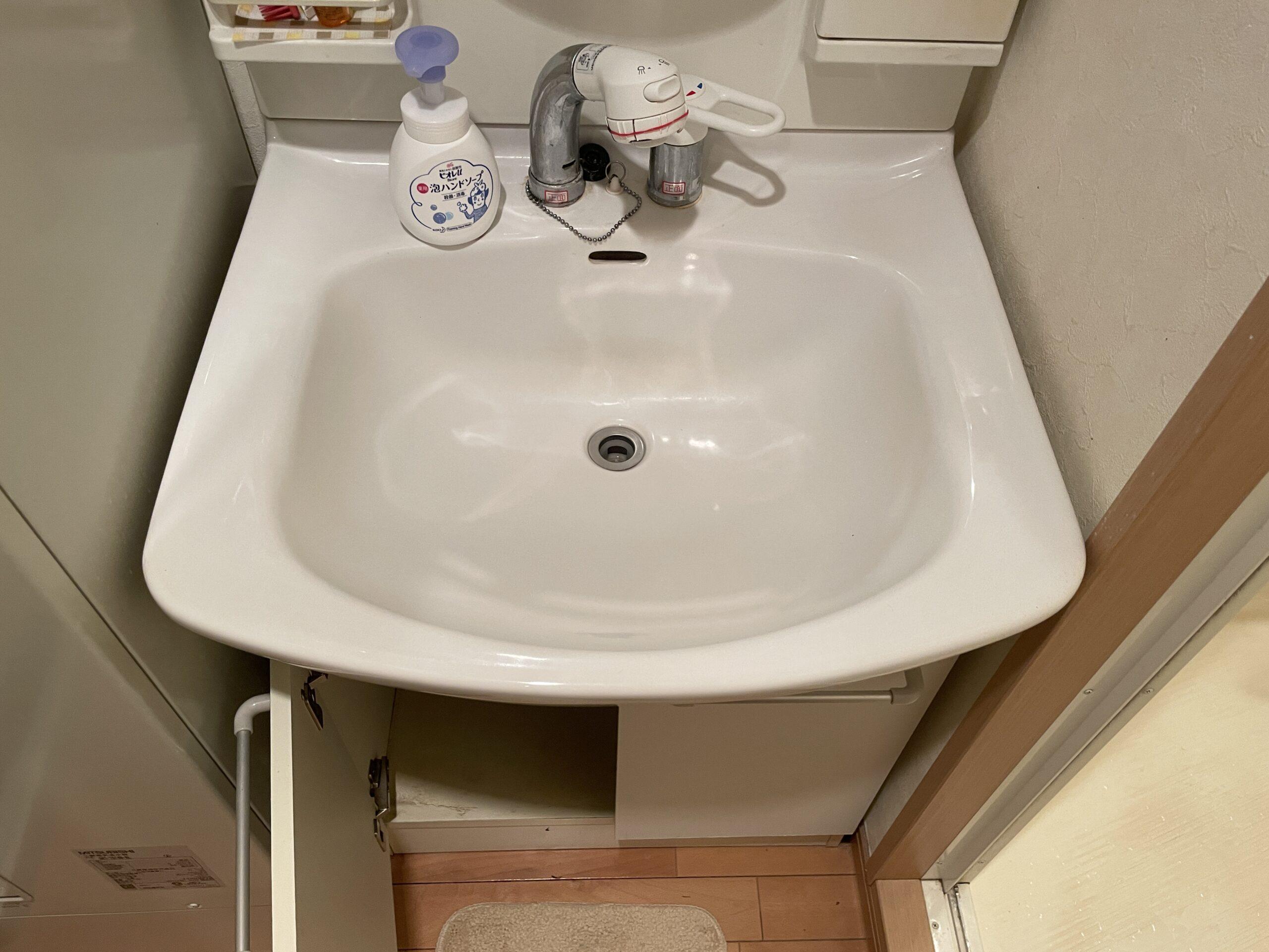 天王寺区 洗面台 施工前①