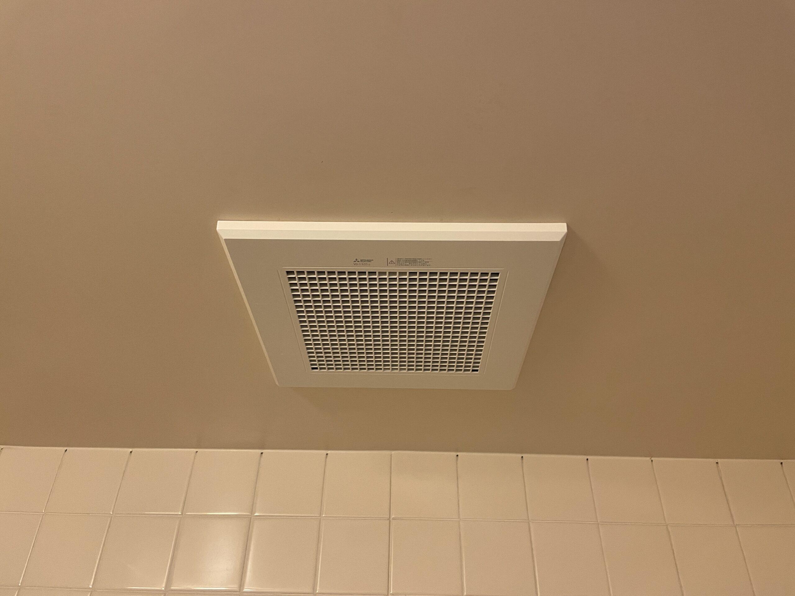 東住吉区 浴室用換気扇 施工後②